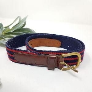 "COACH Vintage Wool/Leather Belt 36"""